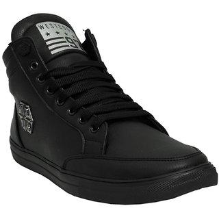 Black Tiger Men'S Black Lace-Up Boots