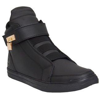 West Code Men'S Black Lace-Up Boots