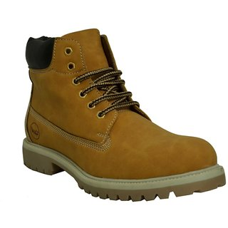 West Code Men'S Camel Lace-Up Boots