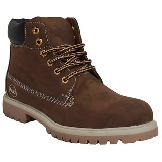 West Code Men'S Brown Lace-Up Boots