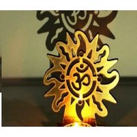 New  Shadow OM Tea Light Candle Holder With Free T Ligh