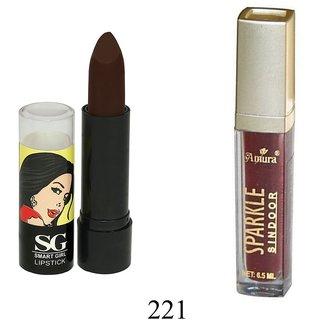 Amura Smart Girl LipStick and  Sparkle Sindur Combo