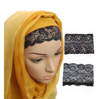 fe456d2afd8c4 Buy Hijab NET LACE TUBE CAP BLACK Under Scarf Abaya Muslim Inner Islamic  Wear Women Bonnet Hair Band Head Cover Burka Online @ ₹180 from ShopClues