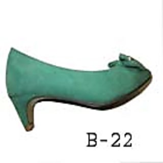 B-22 Suede Leather Daily  Wear Golden Touch Buckle Color Green