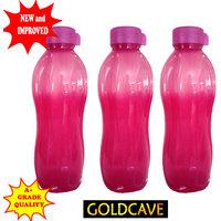GOLDCAVE Water Bottle-NEW DESIGN -1.2 Litres - Set Of 3 Bottles