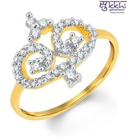 Sukkhi Classy Gold And Rhodium Plated Cubic Zirconia Ring