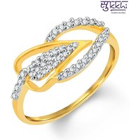 Sukkhi Astonishing Gold And Rhodium Plated Cubic Zirconia Ring