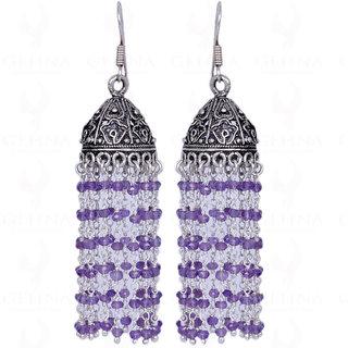 Amethyst Gemstone Faceted Bead Earring