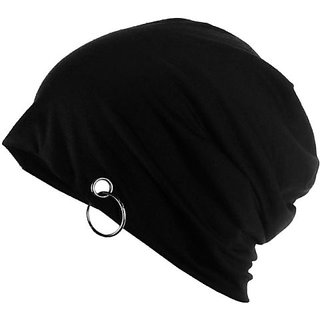 9ebb320195e1b Buy Skm Black Color Beanie Cap with Ring for Men and Women Online - Get 73%  Off