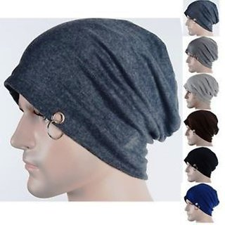 28f070cb555 Buy fashionable Men Beanie Baggy Slouchy cap hat with Ring thin winter fall  Hat (pack of 3) Online - Get 81% Off