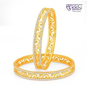 Sukkhi Incredible Gold Plated Set Of 2 Australian Diamond Bangle