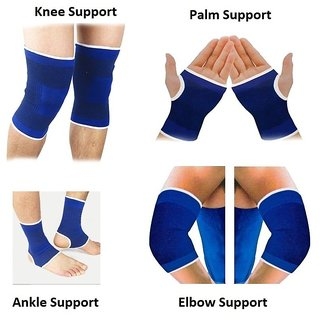 Gym Combo of Knee Support Ankle Support Palm Support Elbow Support