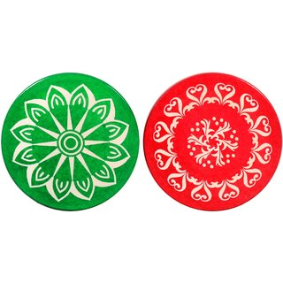 Grazzo Family Carrom Strikers Set of 2 Waterproof PVC Multicolor - Standard Size