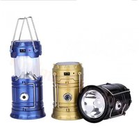 Solar LED Emergency Premium Lantern  (Solar/ USB Charged, For Travel  Camping)- Assorted Colors