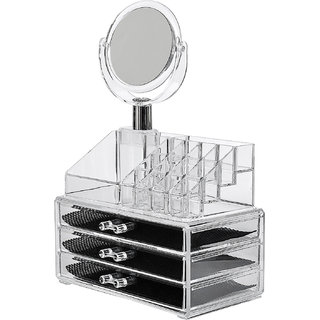 buy house of quirk 16 slot acrylic makeup organizer 3 drawers with