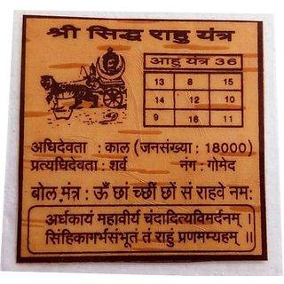 Rebuy Shri Rahu Yantra - Bhoj Patra Yantra for Longevity and Disease free life