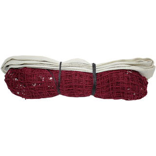 Badminton Net - Cotton Red with Nylon White 2 Side Tape