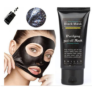 Black mask deep cleansing face mask Tearing style resist oily skin strawberry nose Acne remover black mud