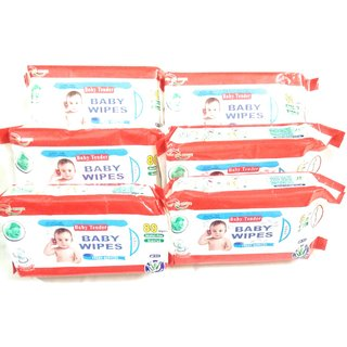 Baby Wipes With Aloevera (Set of 6) 80 sheets in each piece
