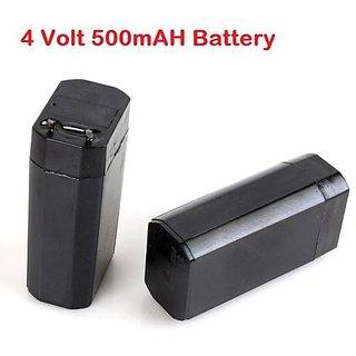 4.0Volt, 500mAh Sealed Lead Acid Rechargable Battery - 2 PIECES