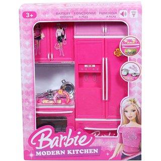 Buy Battery Operated Barbie Little Modern Kitchen Set Online Get