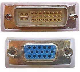 DVI-I Male 24+5pin to 15 pin VGA Female Adapter For Dual Monitor Display