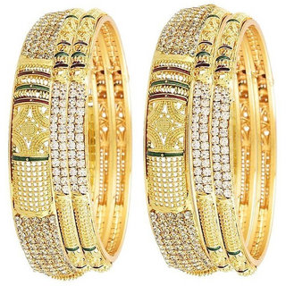 Bhagya Lakshmi Gold Plated Bangles For Women set of 6