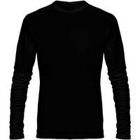 Full Sleeve Men's Black Round Neck T-Shirt