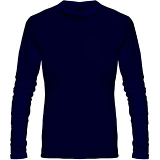Full Sleeve Men's Navy Round Neck T-Shirt