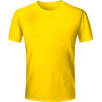 Half Sleeve Men's Yellow Round Neck T-Shirt