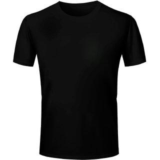 Half Sleeve Men's Black Round Neck T-Shirt