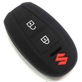 Silicone Key Cover Fit For Suzuki Vitara Brezza / Baleno / S Cross / Ciaz / Swift Smart Key (Black)