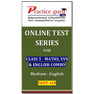 Class 5 - Maths, EVS & English Combo