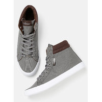 Roadster Men Solid High-Top Sneakers-H4O