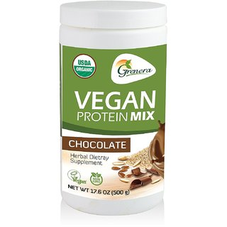 Grenera Organic Vegan Protein Mix - Chocolate (500gm) (1)
