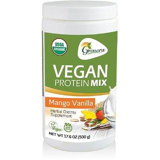 Grenera Organic Vegan Protein Mix - Mango Vannila (500gm) (1)