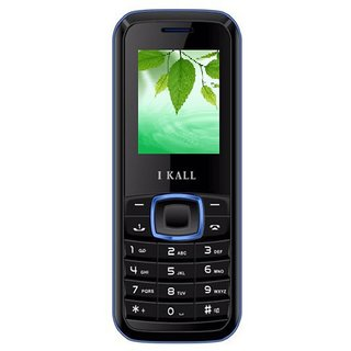 IKall K19 (Dual Sim 1.8 Inch 1000 Mah Battery Wireless FM Black Blue) (No Earphones)