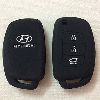 Silicone Flip Key Cover For Hyundai I20 (Igen) / New Verna / Xcent (Only For Flip Key)