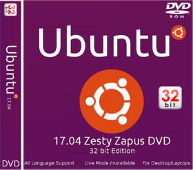 Ubutnu 17.04 Zesty Zapus 32 bit DVD