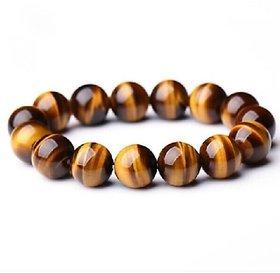 ReBuy Genuine Tiger Eye Stone 10mm Bead Beaded Bracelet - Spiritual Gift