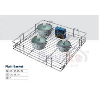 Plain kitchen basket ( 15-16-6 inche ) stainless steel basket