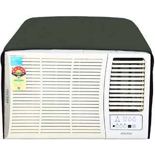 Glassiano Military Colored waterproof and dustproof window ac cover for Voltas 185 LY Luxury Y Series AC 1.5 Ton 5 Star Rating