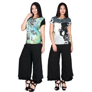 Combo packs of 2 tops and 1 black leggings for women