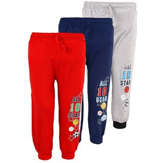 Weecare Football Cotton Track Pants for Kids - Pack of 3
