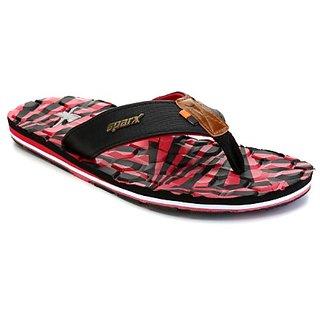 Sparx Men'S Black Red Slippers