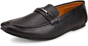 Shoe Daisy Men's Black Synthetic Slip-On Formal Shoes