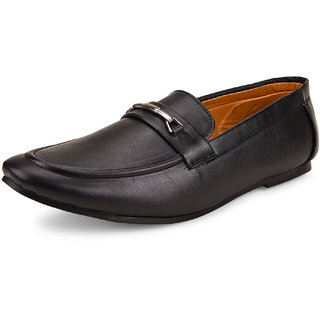 Shoe Daisy Men's Black Synthetic Slip-On Formal Shoes