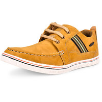 Shoe Daisy Men's Tan Synthetic Lace-Up Sneaker