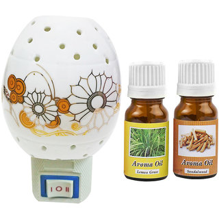 PeepalComm Electric Ceramic Aroma Gold Diffuser with Aroma Oil 10ML (LG SW) for office spa hotel home fragrance
