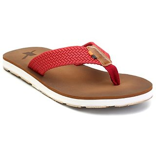 Sparx Men'S Brown Red Slippers